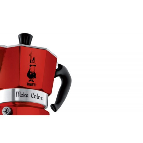 Bialetti Percolator Moka Color Rood 3 kops