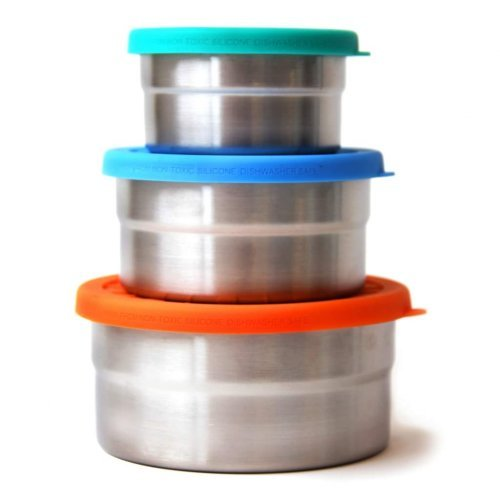 Eco Lunchbox Blue Water Seal Cup Trio