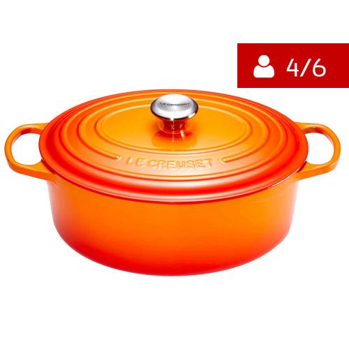 Le Creuset Signature Braadpan Ovaal 27 cm Oranje-Rood