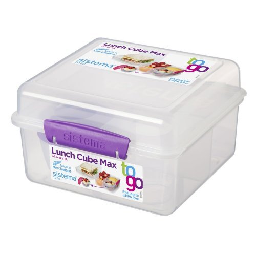 Sistema Lunch Cube Max Paars
